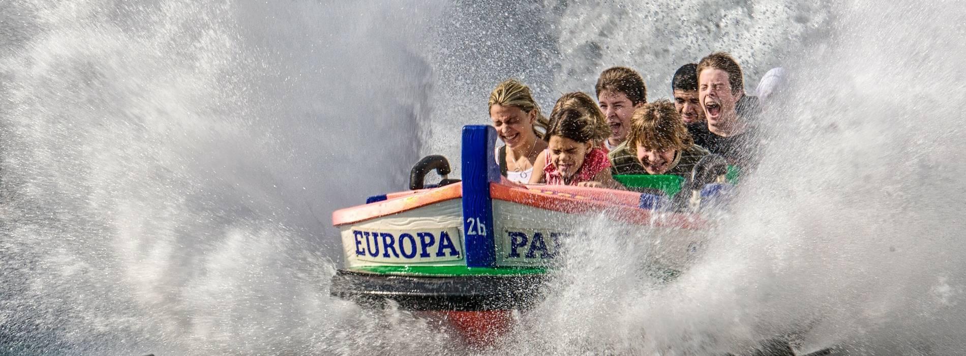 Wildwasserbahn im Europapark in Rust